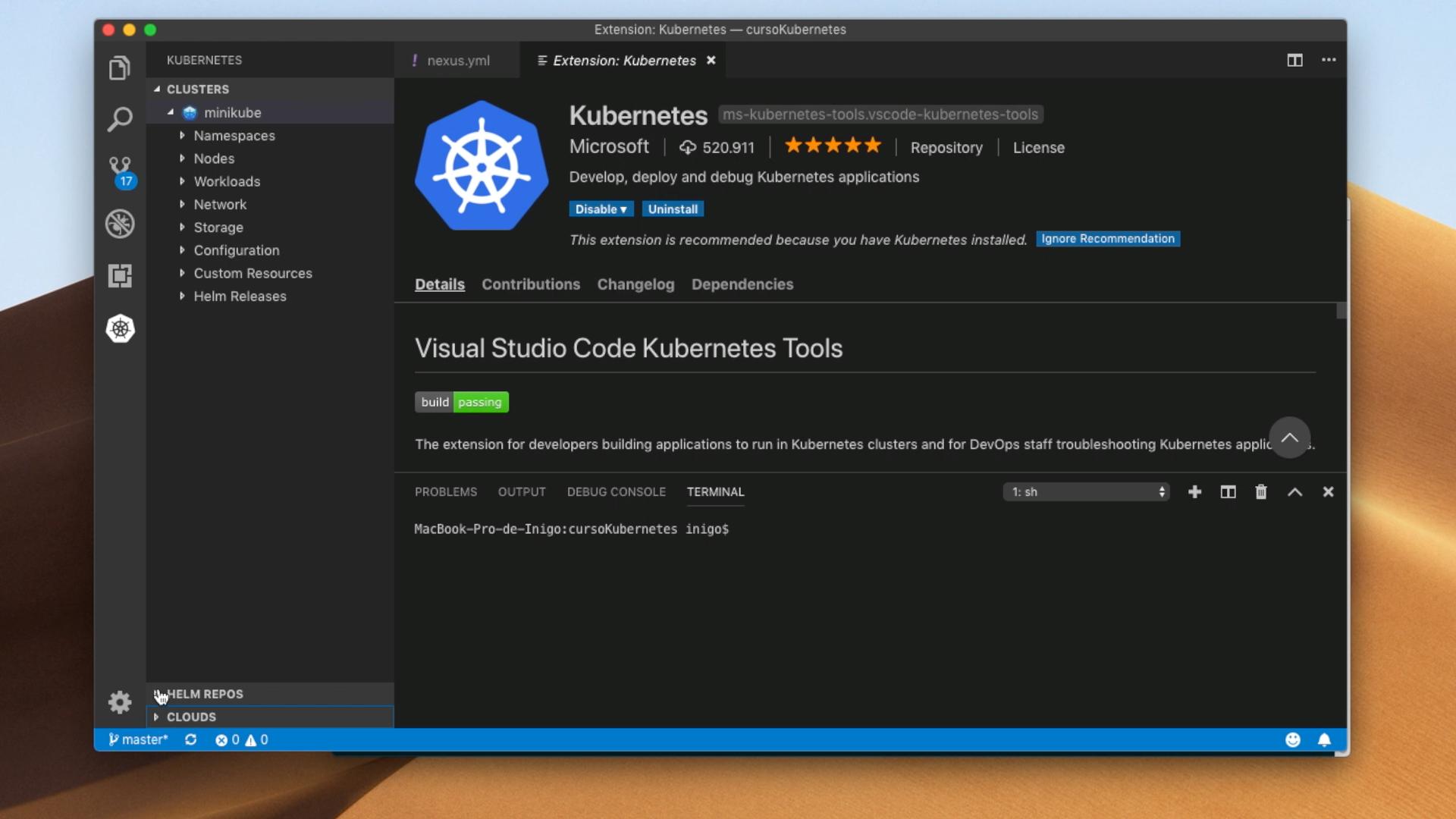 Kubernetes en Visual Studio Code
