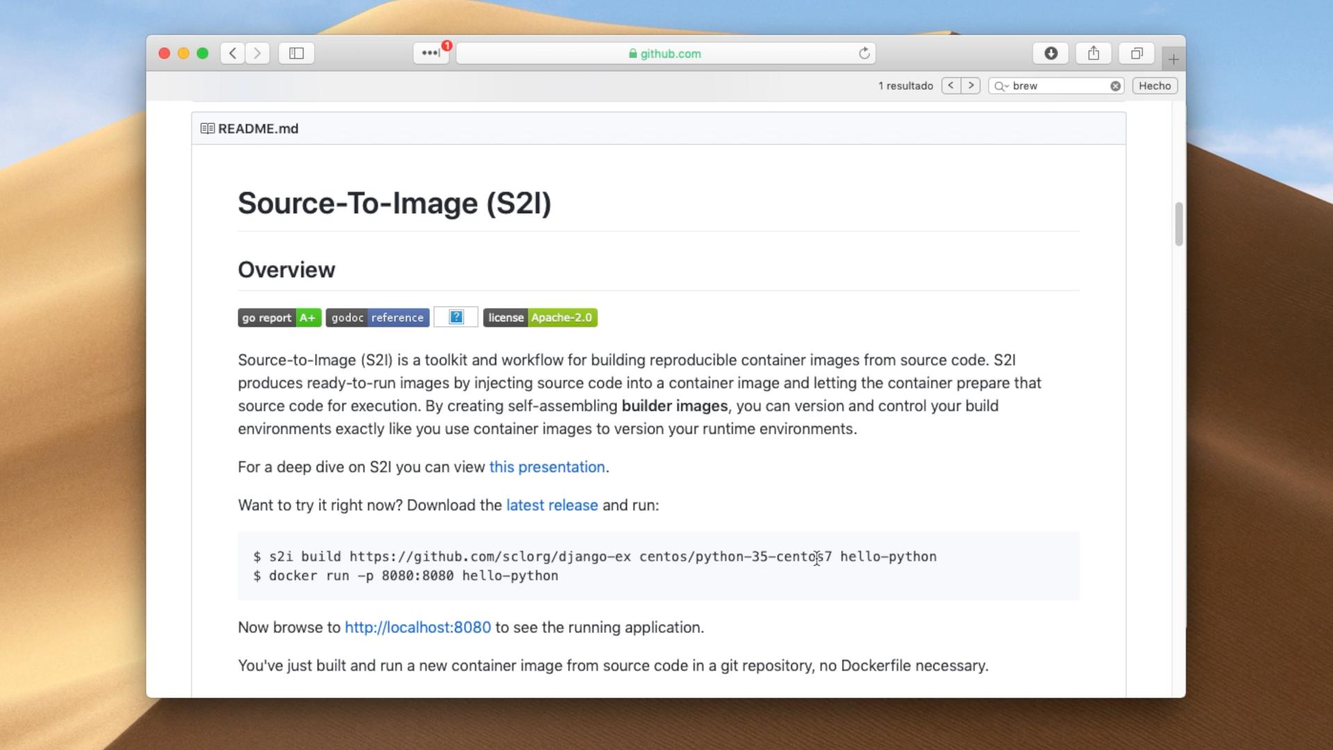 s2i otra alternativa a Dockerfile